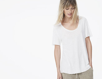 James Perse Inside Out Linen Jersey Tee
