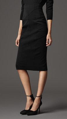 Burberry Corset-Jersey Pencil Skirt