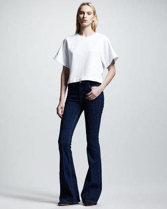 Victoria Beckham Denim High-Waist Flare Jeans