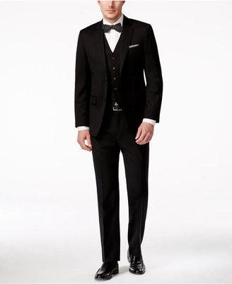 Lauren Ralph Lauren Slim-Fit Vested Black Wool Suit $625 thestylecure.com