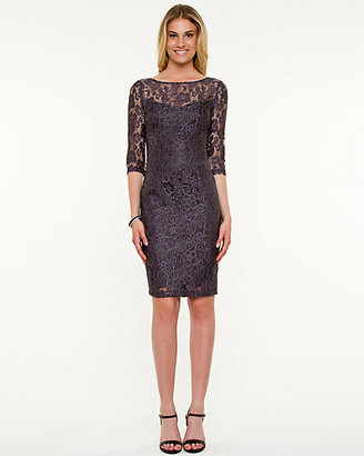 Le Château Lace Scoop Neck Dress