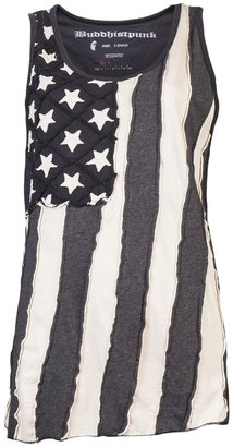 Buddhist Punk Stars & stripes tank