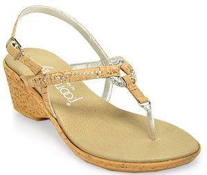 Footnotes Marlee - Cork Wedge Thong Sandal