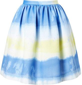 MSGM Preorder Tie-Dye Striped Mesh Skirt