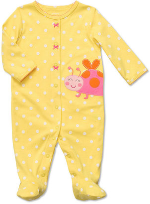 Carter's Baby Girls' Interlock Sleep n' Play Dot Ladybug Coverall