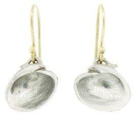 Annette Ferdinandsen Medium Clam Shell Earrings - Sterling Silver