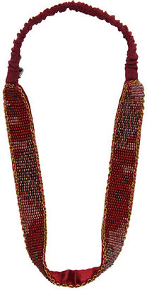 Jane Tran Beaded Aztec Print Mix Headband