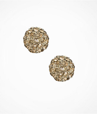 Express Pave Globe Stud Earrings