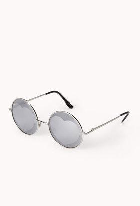 Forever 21 F6666 Mirrored Heart Round Sunglasses