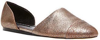 Steve Madden STEVEN BY Saxon Metallic Capped Leather Flats