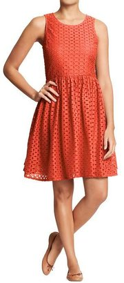 Old Navy Women's Mixed-Eyelet Dresses