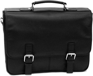 "Kenneth Cole Reaction 5"" Double Gusset Flapover Portfolio Bag"