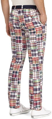 Brooks Brothers Milano Fit Patchwork Madras Pants