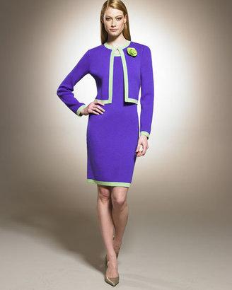 St. John Contrast-Trim Dress