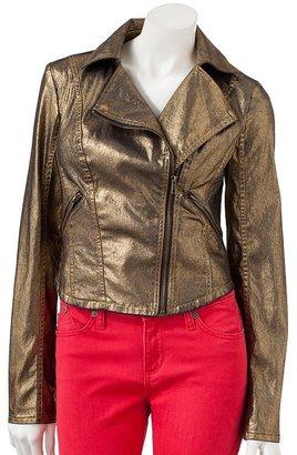 Rock & Republic foil denim motorcycle jacket