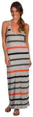 Soft Joie Blush Maxi Stripe Dress (Heather Grey Multi) - Apparel