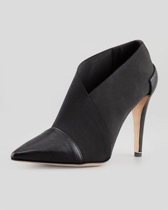 Diane von Furstenberg Brett Pointy-Toe Stretch Bootie, Black