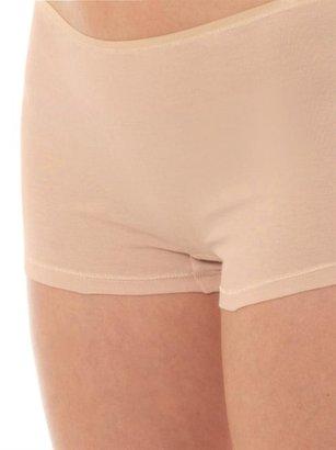 Hanro Seamless Cotton Boy-short Briefs - Nude