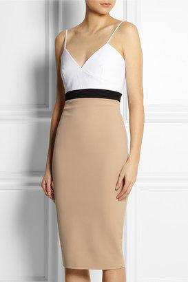 Victoria Beckham Cami color-block stretch cotton-blend dress