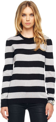 MICHAEL Michael Kors Metallic Striped Sweater
