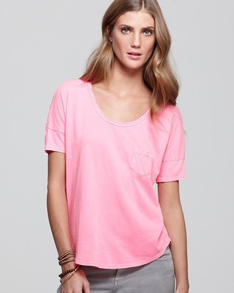 Velvet by Graham & Spencer Tee - Sheer Jersey Pocket