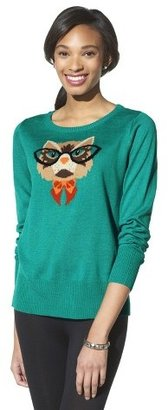 Xhilaration Cat with Glasses Sweater - Teal