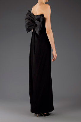 Lanvin Strapless Bow-back Gown