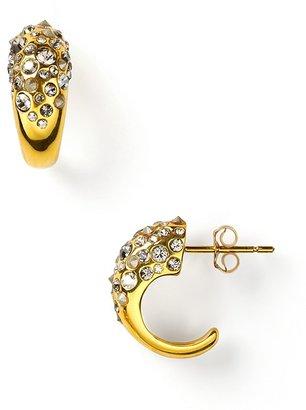 Alexis Bittar Crystal Encrusted Extra Small Hoop Earrings