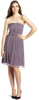Donna Morgan Women's Strapless Belted Chiffon Dress