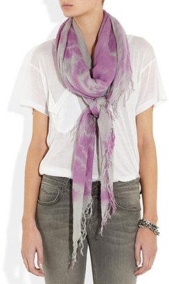 Chan Luu Tie-dye cashmere and silk-blend scarf