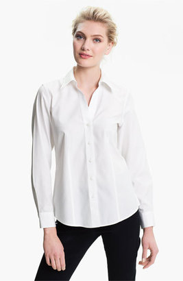 Petite Women's Foxcroft Non-Iron Fitted Shirt $76 thestylecure.com