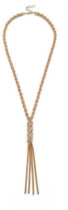 GUESS Gold-Tone Lariat Necklace