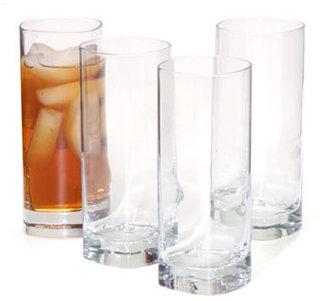 Luigi Bormioli Set of 4 Strauss Beverage Glasses, Highball