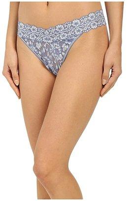 Hanky Panky Cross-Dyed Signature Lace Original Rise Thong (Taupe/Vanilla) Women's Underwear