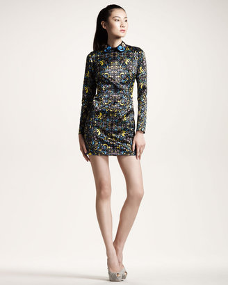 Opening Ceremony Printed Cutout-Back Dress