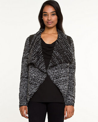 Le Château Tweed Open-Front Cardigan