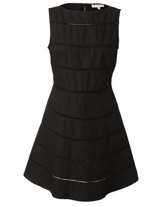 Opening Ceremony Cotton Dress with Lace Inserts