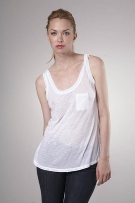 Fluxus Burnout Pocket Tank in White $65 thestylecure.com