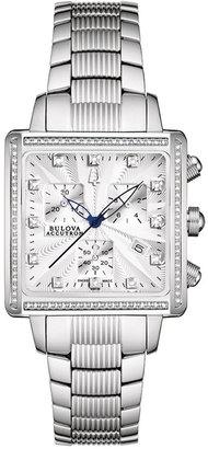 Bulova Accutron Watch, Women's Swiss Chronograph Masella Stainless Steel Bracelet 63R129