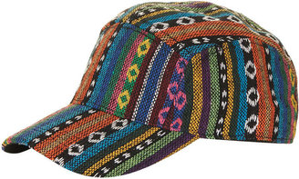 Topshop Aztec Fabric Baseball Cap