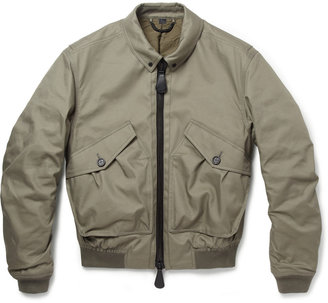 Burberry Quilted Cotton-Blend Bomber Jacket