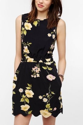 Urban Outfitters ByCORPUS Silky Scallop Hem Dress