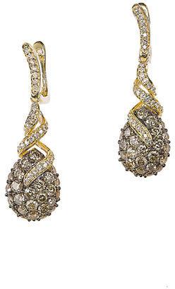 LeVian 14 Kt. Gold Diamond Drop Earrings