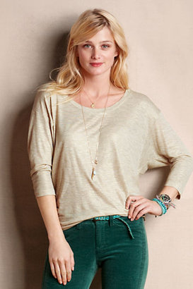 Lands' End Canvas Women's Metallic Dolman Tee
