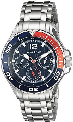 Nautica Midsize N21559M NST 02 Mid Classic Enamel-Bezel Stainless Steel Watch $136.99 thestylecure.com