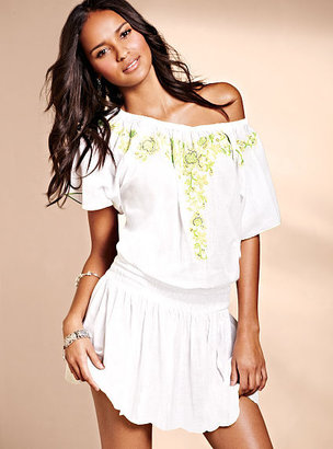 Victoria's Secret Gauze Embroidered Cover-up Dress