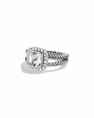 David Yurman Petite Albion Ring with White Topaz and Diamonds $675 thestylecure.com