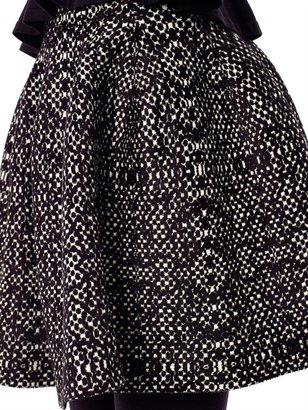 Azzedine Alaia Snake-knit skater skirt