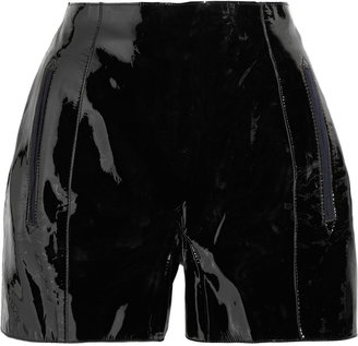Carven Patent-leather shorts