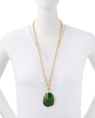 Panacea Green Agate Pendant Necklace